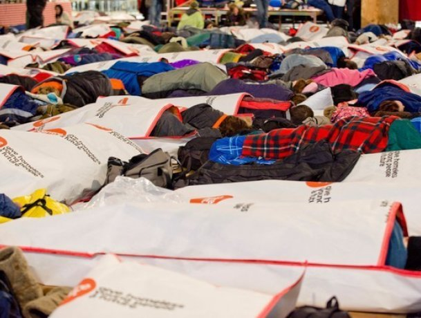 Centrepoint charity Sleep Out
