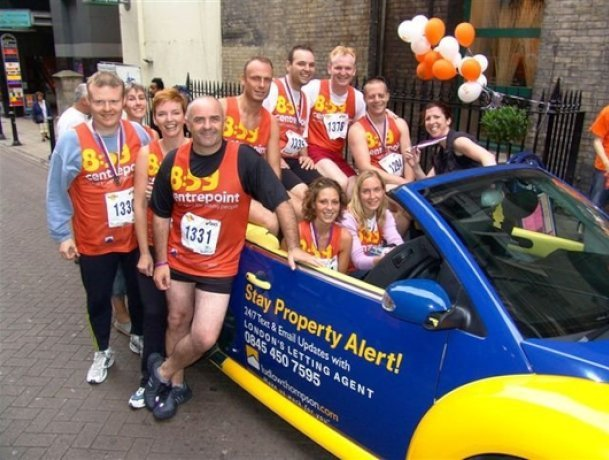 ludlowthompson fundraising for Centrepoint in London