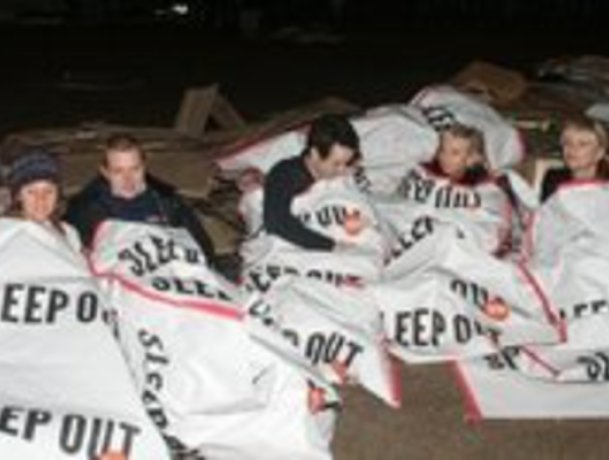 Centrepoint sleepout in London