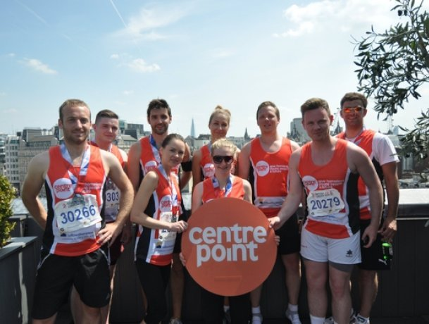 We've been running to raising money for Centrepoint