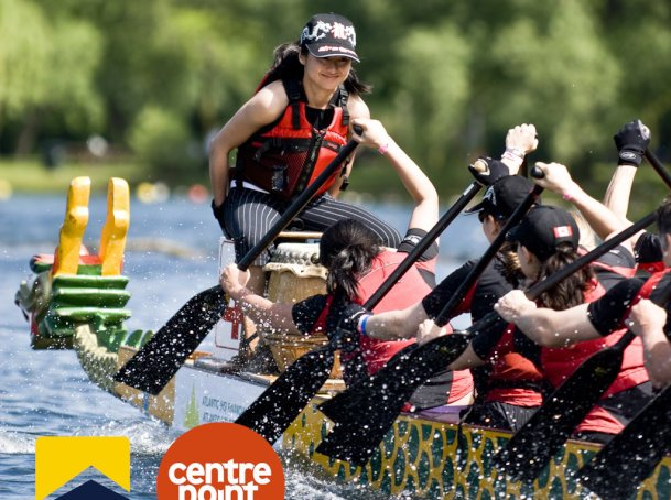 ludlowthompson participate in 'Dragon Boat Race' to raise money for Centrepoint