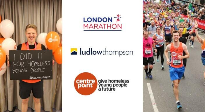 ludlowthompson team complete London Marathon for Centrepoint photo 1