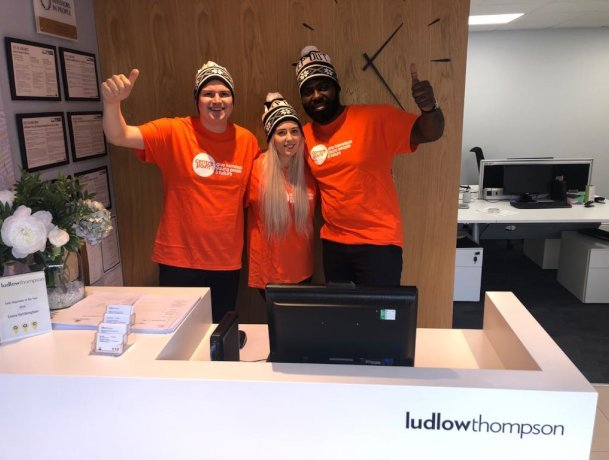 Christmas appeal as ludlowthompson staff brave the cold for the 15th year as they 'sleep rough' to raise funds for charity Centrepoint