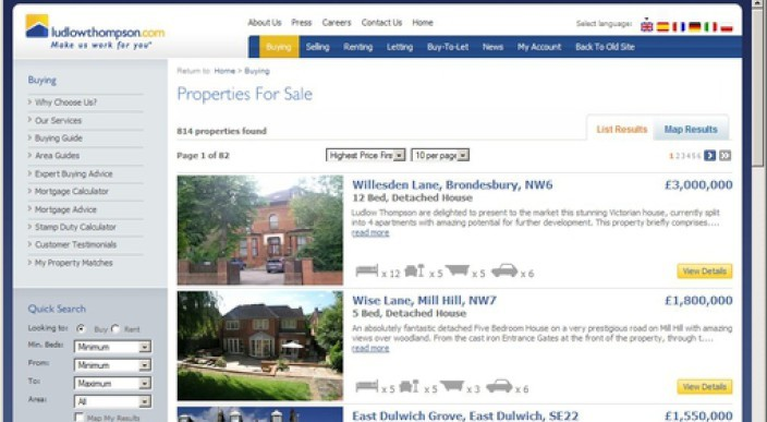 New innovative property website for London photo 1