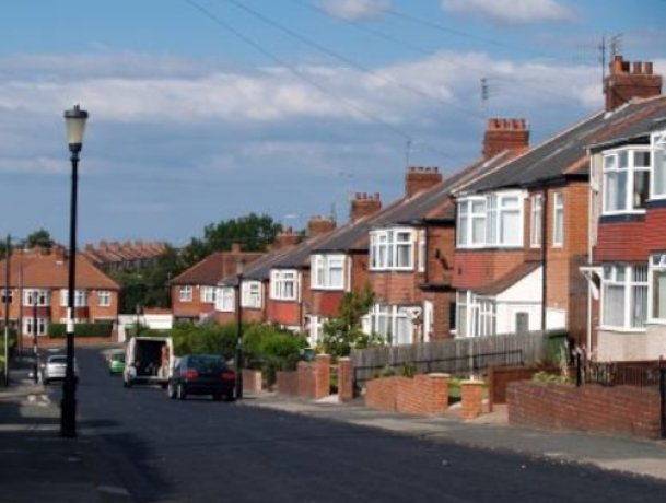 Average house price fall in the UK