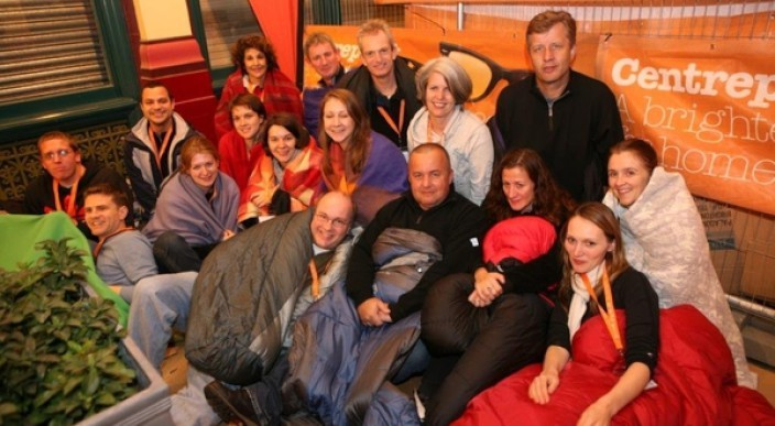 ludlowthompson supports Centrepoint sleep out photo 1