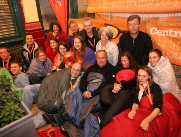 Supporters of Centrepoint's sleep out