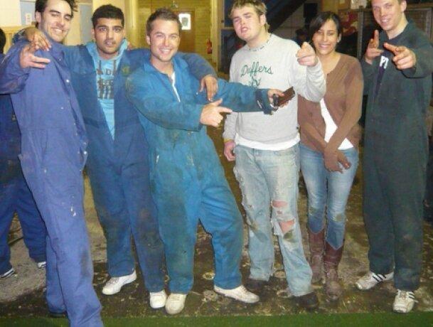 The Dock Street Lettings team go paint balling